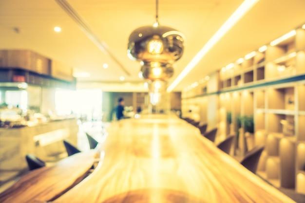 Zusammenfassung unschärfe café und restaurant