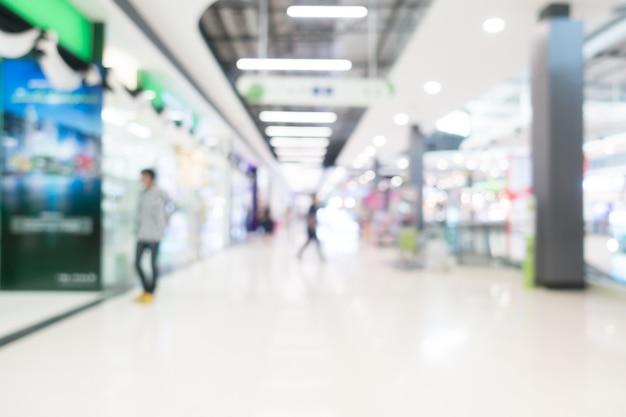 Zusammenfassung unschärfe einkaufszentrum innenraum