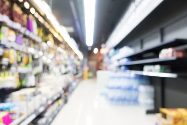Zusammenfassung unschärfe supermarkt im kaufhaus