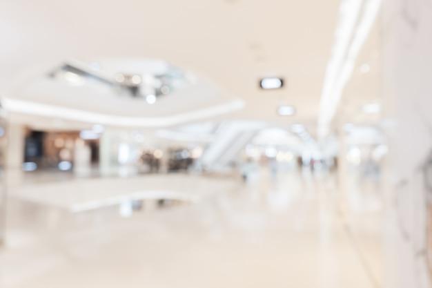 Zusammenfassung unscharfer einkaufszentruminnenraum