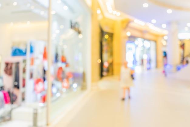 Zusammenfassung unscharfes einkaufszentrum im deparmentspeicher