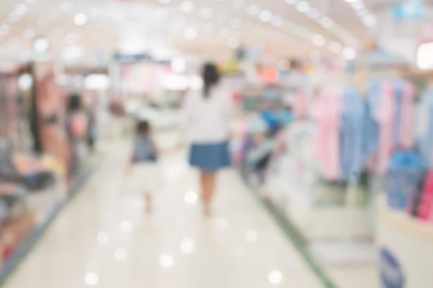 Zusammenfassung verwischte einkaufszentrum, defocused kaufhausinnenraum für hintergrund