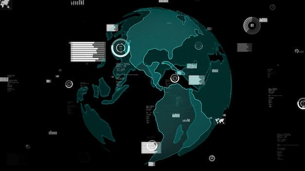 Zusammenfassung zur visualisierung der intelligenten geschäftsdatenanalysetechnologie