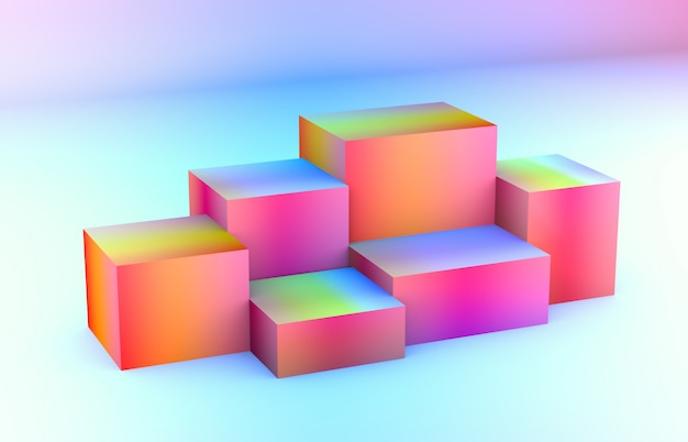 Zusammensetzung 3d. abstrakte geometrische formen 3d