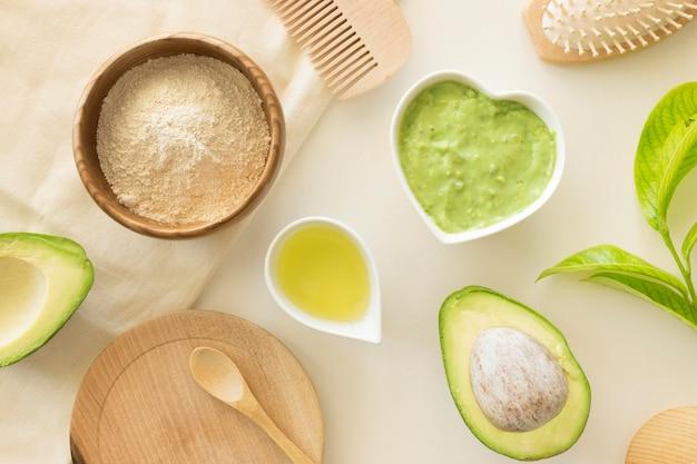 Zusammensetzung der avocado-artikel für die spa-behandlung