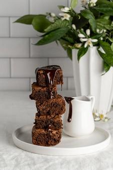 Zusammensetzung der köstlichen hausgemachten brownies