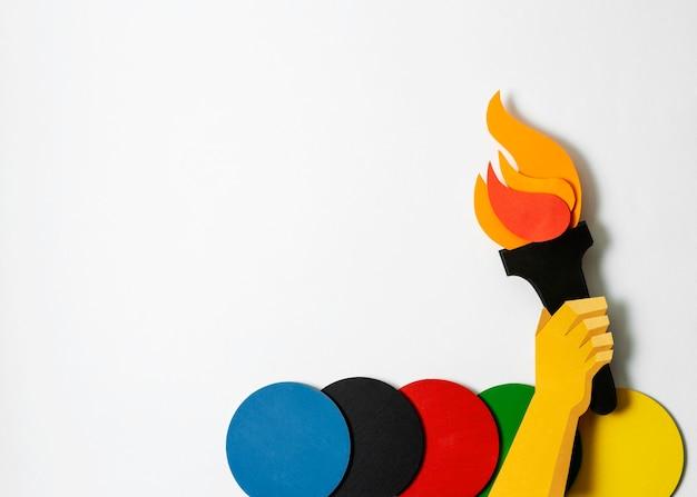 Zusammensetzung der olympischen formen des papierstils