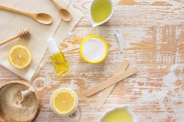 Zusammensetzung der spa-behandlung zitrusfrüchte und honig