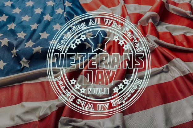 Zusammensetzung der veteranentagesflagge