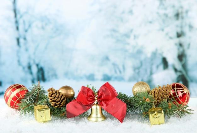 Zusammensetzung der weihnachtsdekoration