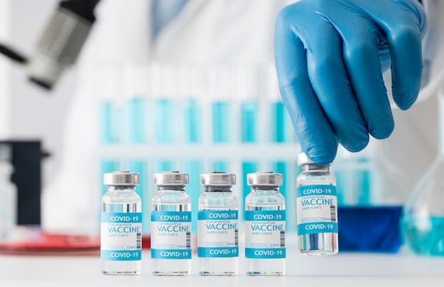 Zusammensetzung des coronavirus-impfstoffs im labor
