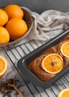 Zusammensetzung des gesunden rezepts mit orangen