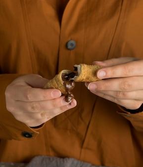 Zusammensetzung des köstlichen tequenos-gerichts