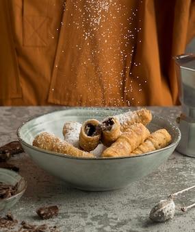 Zusammensetzung des köstlichen traditionellen tequenos-gerichts