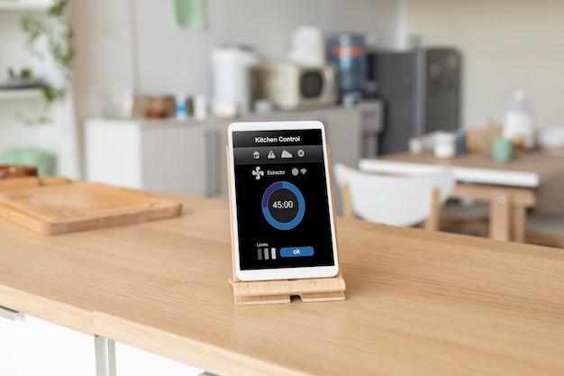 Zusammensetzung des tablets mit hausautomations-app