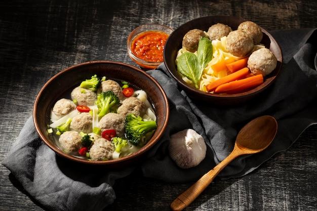 Zusammensetzung des traditionellen indonesischen bakso
