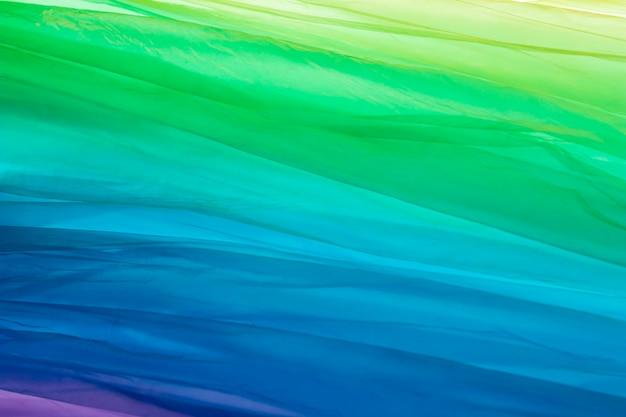 Zusammensetzung verschiedenfarbiger plastiktüten