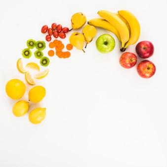 Zusammensetzung von früchten