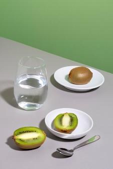 Zusammensetzung von leckerem gesundem essen