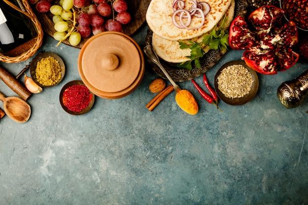Zutaten aus dem nahen osten oder der arabischen tradition