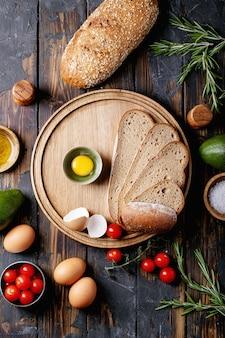 Zutaten für avacado-toast