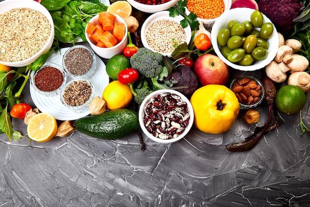 Zutaten für die gesunde ernährung