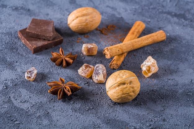 Zutaten für die herstellung von weihnachten gebacken