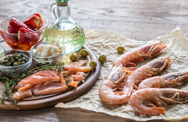 Zutaten für die mediterrane ernährung