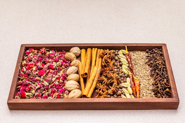 Zutaten für die zubereitung orientalisches gewürz ras el hanout