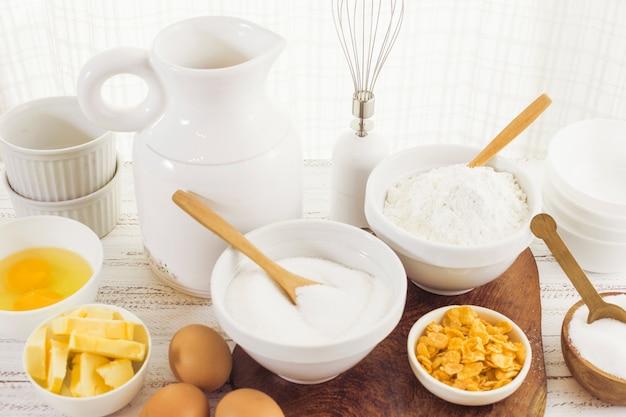 Zutaten für die zubereitung von backwaren