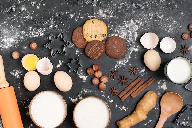 Zutaten für die zubereitung von lebkuchen