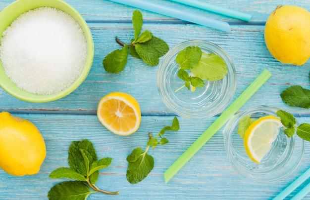 Zutaten für ein erfrischendes getränk