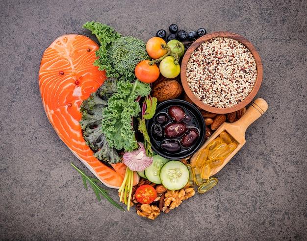Zutaten für eine gesunde lebensmittelauswahl