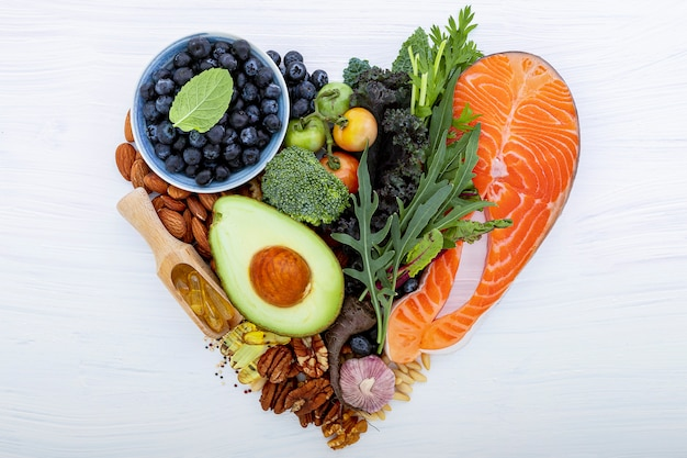 Zutaten für eine gesunde lebensmittelauswahl.