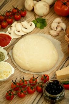 Zutaten für eine vegane pizza