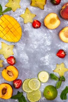 Zutaten für fruchtsommergetränke
