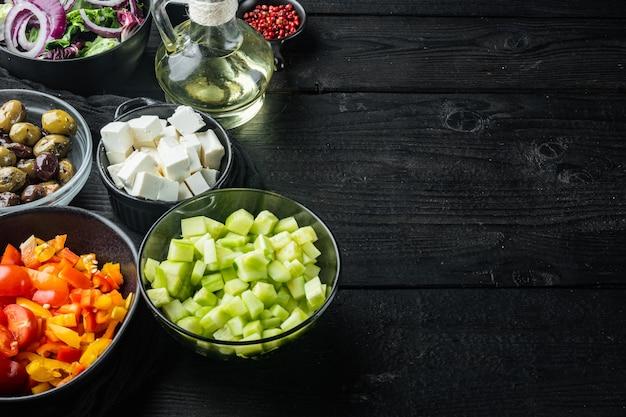 Zutaten für griechischen salat