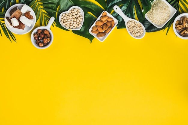 Zutaten für milchfreie milchersatzgetränke