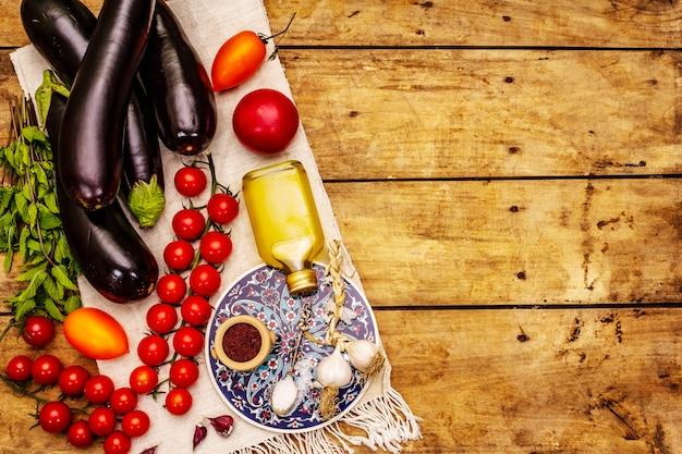 Zutaten für traditionelles türkisches essen