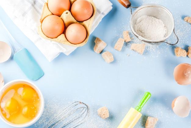 Zutaten und utensilien zum backen kochen