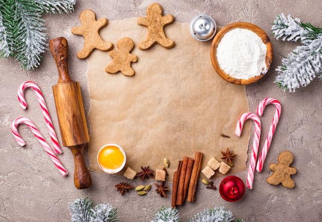 Zutaten zum backen von weihnachtsplätzchen
