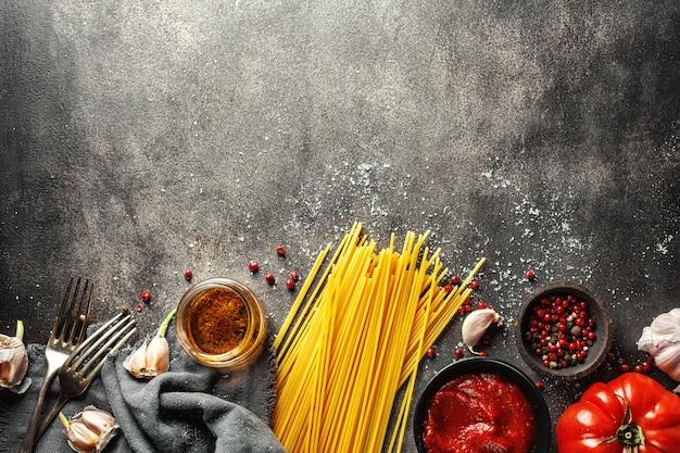Zutaten zum kochen der italienischen küche