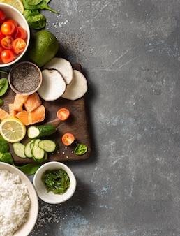 Zutaten zum kochen der sackschale
