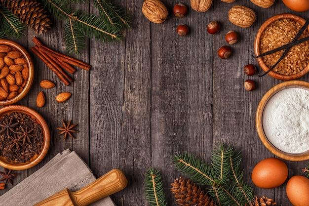 Zutaten zum kochen weihnachtsbacken