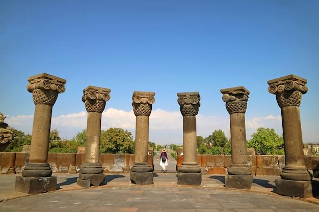 Zvartnots cathedral oder die celestial angels cathedral, st. gregory, armenien gewidmet