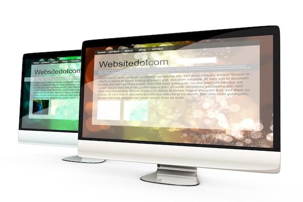 Zwei all-in-one-computer mit allgemeinen websites