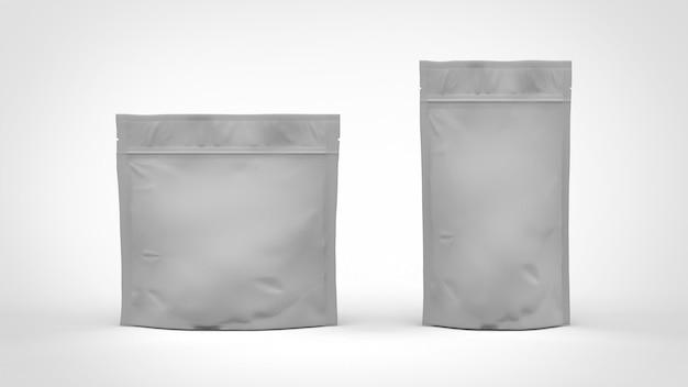 Zwei arten kaffeebeutel doy pack mit reißverschluss