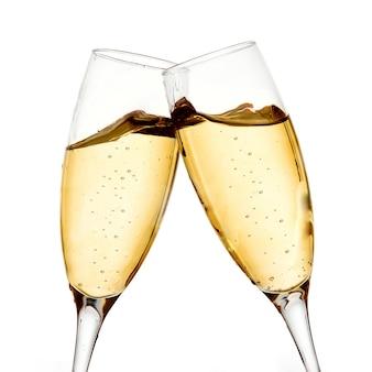 Zwei champagnergläser