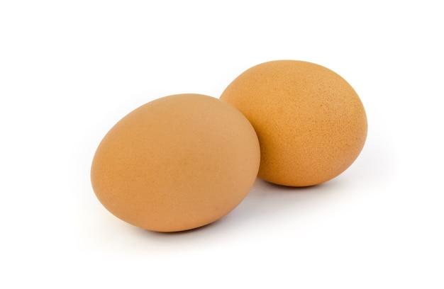 Zwei eier isoliert
