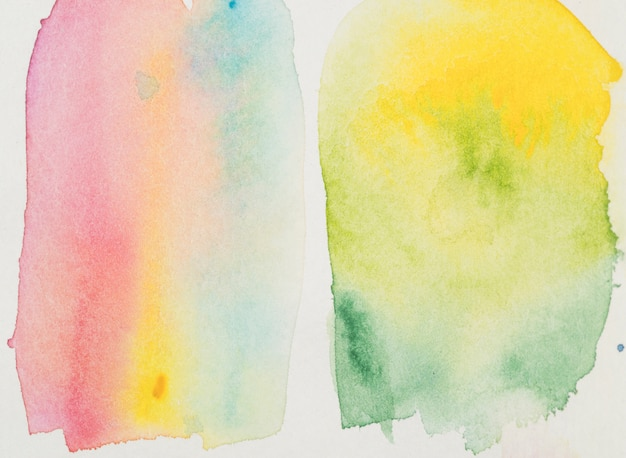 Zwei flecken buntes aquarell